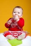 Rozochocony dziecka ono uśmiecha się Zdjęcia Royalty Free