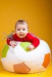 Rozochocony dziecka ono uśmiecha się Fotografia Stock