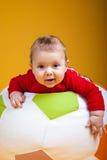 Rozochocony dziecka ono uśmiecha się Zdjęcia Stock