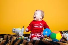 Rozochocony dziecka ono uśmiecha się Obraz Stock