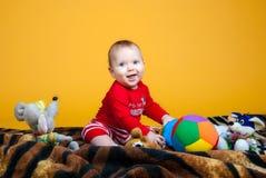 Rozochocony dziecka ono uśmiecha się Fotografia Royalty Free