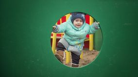 Rozochocony dziecko na boisku Zdjęcie Stock