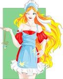 rozochocony housemaid Zdjęcia Royalty Free