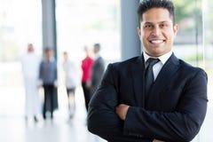 Rozochocony indyjski biznesmen Zdjęcie Royalty Free