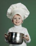 rozochocony kucharz obraz royalty free