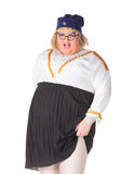 Rozochocony mężczyzna, włóczydło królowa w Żeńskim kostiumu, Zdjęcie Stock