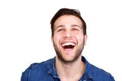 Rozochocony młodego człowieka śmiać się Fotografia Royalty Free