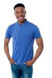 Rozochocony młody afrykanina model Zdjęcie Stock