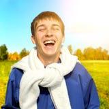 Rozochocony nastolatek plenerowy Obraz Royalty Free