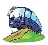 Rozochocony stubarwny autobus Zdjęcia Stock
