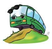 Rozochocony stubarwny autobus Obraz Stock