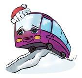Rozochocony stubarwny autobus Fotografia Royalty Free