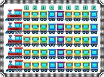 Rozochocony szkolny rozkład zajęć robić pociągami i furgonami Zdjęcie Royalty Free