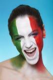 Rozochocony włoski zwolennik patrzeje dla FIFA 2014 obraz royalty free