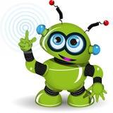 Rozochocony Zielony robot Zdjęcia Stock