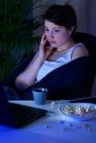 Rozpacz dziewczyny wydatki evening samotnie Fotografia Royalty Free