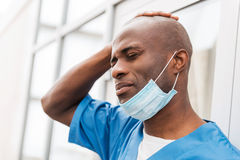 Rozpaczający chirurg fotografia stock