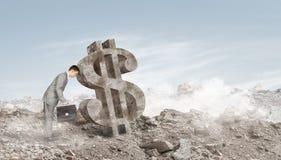 Rozpaczający dostawać dochód obraz stock