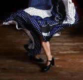 Rozpada się fotografię flamenco tancerz baryłki cropped, tylko, noga czerepu flamenco tancerz fotografia, hiszpańska Obrazy Stock