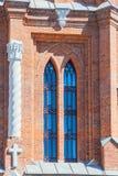Rozpada się parafię Święty serce Jezus kościół rzymsko-katolicki w mieście Samara zdjęcie royalty free