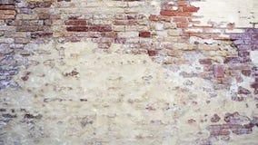 Rozpadowa ściana mieszająca z ceglany horyzontalnym Fotografia Royalty Free
