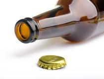 Rozpieczętowana butelka obrazy royalty free