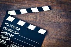 Rozpieczętowana clapper deska lub łupku film obrazy stock