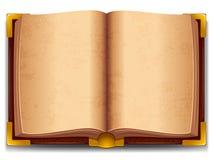 Rozpieczętowana stara książka ilustracja wektor