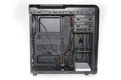 Rozpieczętowana system komputerowy jednostka pojedynczy białe tło Obraz Royalty Free