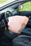 Rozpieczętowany airbag zdjęcia royalty free