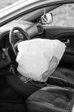 Rozpieczętowany airbag fotografia stock