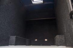 Rozpieczętowany bagażnik autobus fotografia royalty free