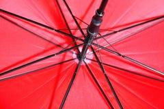 Rozpieczętowany czerwony parasol, zbliżenie Obraz Royalty Free
