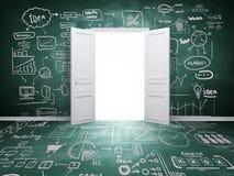 Rozpieczętowany drzwi ilustracja wektor