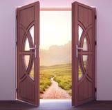 Rozpieczętowany drzwi, wnętrze Fotografia Royalty Free