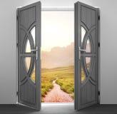 Rozpieczętowany drzwi, wnętrze Obrazy Royalty Free
