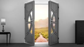 Rozpieczętowany drzwi, wnętrze Obraz Stock