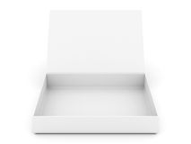 rozpieczętowany pudełko biel Obraz Stock