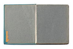 Rozpieczętowany Stary rocznika album fotograficzny zdjęcia stock