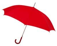 rozpieczętowany czerwony parasol Obrazy Royalty Free