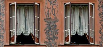 rozpieczętowany dwa okno Zdjęcia Royalty Free