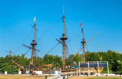 Rozpoczynająca Predestinatsia łódź w Voronezh, Rosja fotografia stock