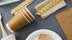 Rozporz?dzalni naczynia papier i drewno zbiory wideo