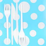 Rozporządzalny cutlery set Zdjęcie Royalty Free