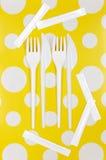 Rozporządzalny cutlery set Fotografia Royalty Free