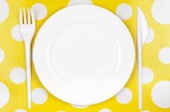 Rozporządzalny tableware set Obrazy Stock