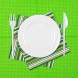Rozporządzalny tableware set Obraz Stock
