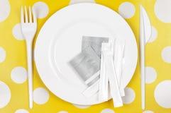 Rozporządzalny tableware set Zdjęcie Royalty Free