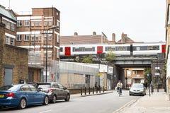 Rozprężony uliczny widok Hackney w Londyn, UK zdjęcie stock