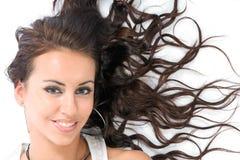 rozproszyć włosy g - girl. zdjęcie stock
